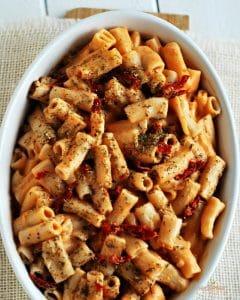 Vegan sundried tomato pasta