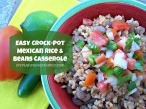 vegan crockpot Mexican casserole