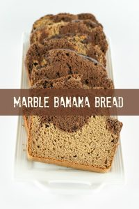 Vegan marble banana bread