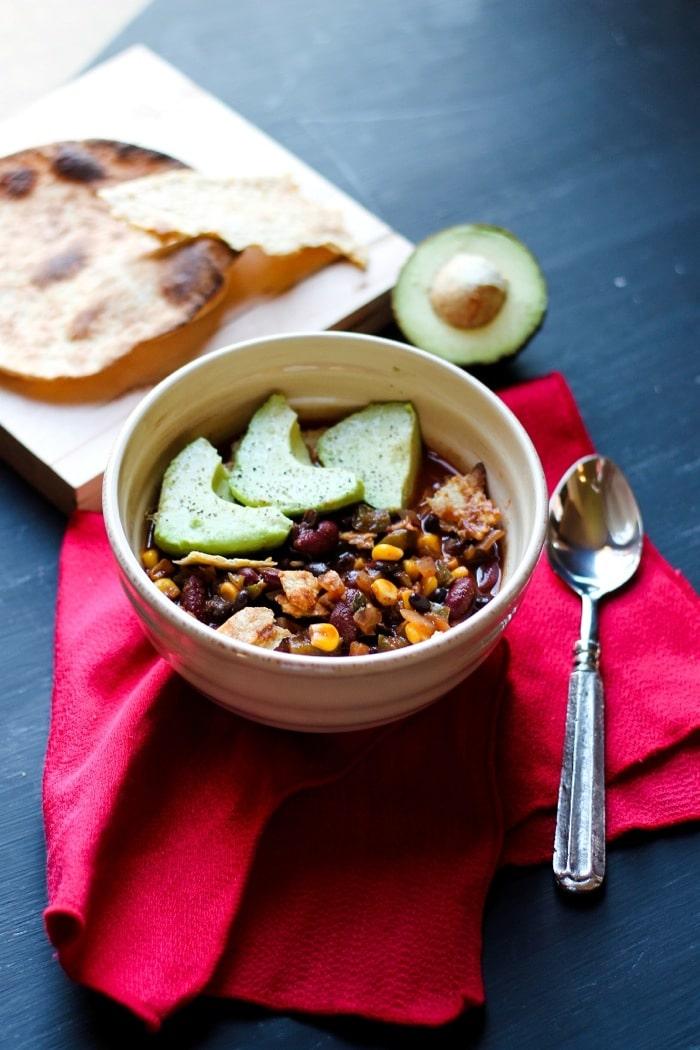 Vegan Mexican chili