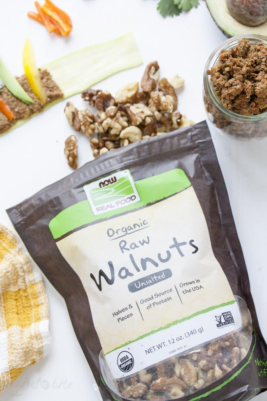 NOW Foods raw walnuts