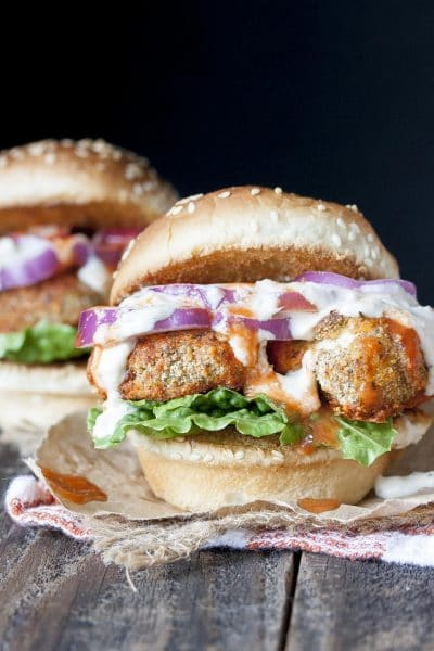 Vegan Buffalo Wing Sliders and The Best Ranch Dressing